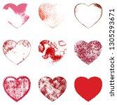 vintage grainy shabby valentine ...   Shutterstock .eps vector #1305293671