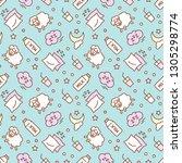 seamless pattern design for... | Shutterstock .eps vector #1305298774