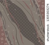 contemporary abstract silk...   Shutterstock .eps vector #1305303274