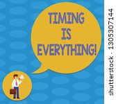 word writing text timing is... | Shutterstock . vector #1305307144