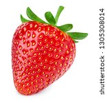 strawberry isolated on white... | Shutterstock . vector #1305308014