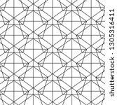 pattern black geometry of... | Shutterstock .eps vector #1305316411