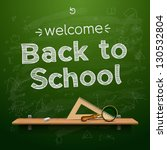 back to school background ... | Shutterstock .eps vector #130532804