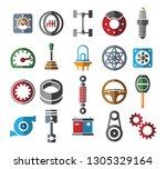 automotive parts icons. color...   Shutterstock .eps vector #1305329164