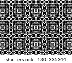 ornament with elements of black ... | Shutterstock . vector #1305335344