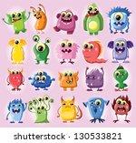 cartoon cute monsters   Shutterstock .eps vector #130533821