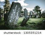 view of grunge downfallen... | Shutterstock . vector #1305351214