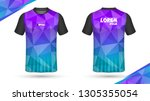 football shirt template    Shutterstock .eps vector #1305355054