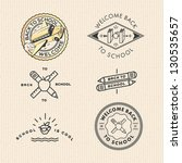 vector set vintage school labels | Shutterstock .eps vector #130535657