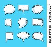 comic speech bubble set | Shutterstock .eps vector #1305359827