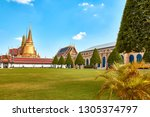 grand palace and wat phra keaw...   Shutterstock . vector #1305374797