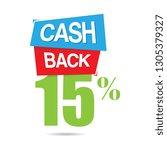 vector cashback fifteen percent ... | Shutterstock .eps vector #1305379327