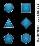 set of some variation shaped... | Shutterstock .eps vector #1305387931