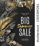 big sale vertical banner.... | Shutterstock .eps vector #1305389281