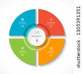 vector infographic circle....   Shutterstock .eps vector #1305391351