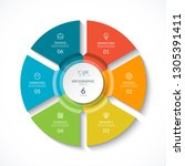 vector infographic circle.... | Shutterstock .eps vector #1305391411