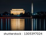 the lincoln memorial and... | Shutterstock . vector #1305397024