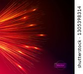 magical explosion of bright... | Shutterstock .eps vector #1305398314