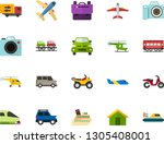 color flat icon set   school... | Shutterstock .eps vector #1305408001