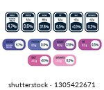 nutrition facts infographic data | Shutterstock .eps vector #1305422671