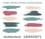 grunge label brush stroke... | Shutterstock .eps vector #1305425071