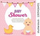 little baby shower card   Shutterstock .eps vector #1305426451