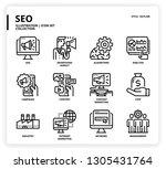 seo icon set | Shutterstock .eps vector #1305431764