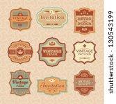 set of floral vintage vector... | Shutterstock .eps vector #130543199