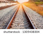 railroad tracks with sunset  ...   Shutterstock . vector #1305438304