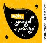 "motivation success quote ""make... | Shutterstock .eps vector #1305456994"
