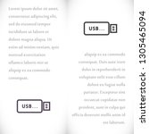 vector icon usb flash drive 10... | Shutterstock .eps vector #1305465094