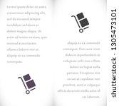 handcart vector icon   Shutterstock .eps vector #1305473101
