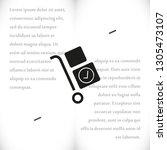 handcart vector icon   Shutterstock .eps vector #1305473107