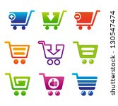 set of shopping carts. set of... | Shutterstock .eps vector #130547474
