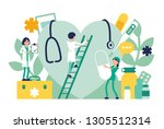 doctors  general practitioners... | Shutterstock .eps vector #1305512314