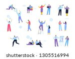 business people. cooperation.... | Shutterstock .eps vector #1305516994