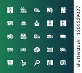 delivering icon set. collection ... | Shutterstock .eps vector #1305529027