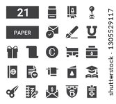 paper icon set. collection of... | Shutterstock .eps vector #1305529117