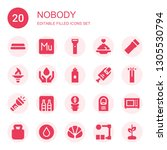 nobody icon set. collection of...   Shutterstock .eps vector #1305530794