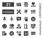 experience icon set. collection ... | Shutterstock .eps vector #1305530821