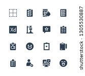 survey icon set. collection of...