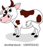 cow standing | Shutterstock . vector #130553141