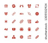 cooperation icon set.... | Shutterstock .eps vector #1305532924