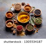 spices on black background | Shutterstock . vector #1305534187