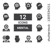 mental icon set. collection of... | Shutterstock .eps vector #1305534211