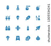 flavor icon set. collection of... | Shutterstock .eps vector #1305534241