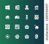residential icon set.... | Shutterstock .eps vector #1305534457