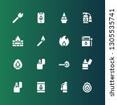 flammable icon set. collection... | Shutterstock .eps vector #1305535741