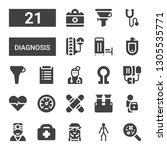 diagnosis icon set. collection... | Shutterstock .eps vector #1305535771