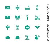 wi fi icon set. collection of... | Shutterstock .eps vector #1305537241